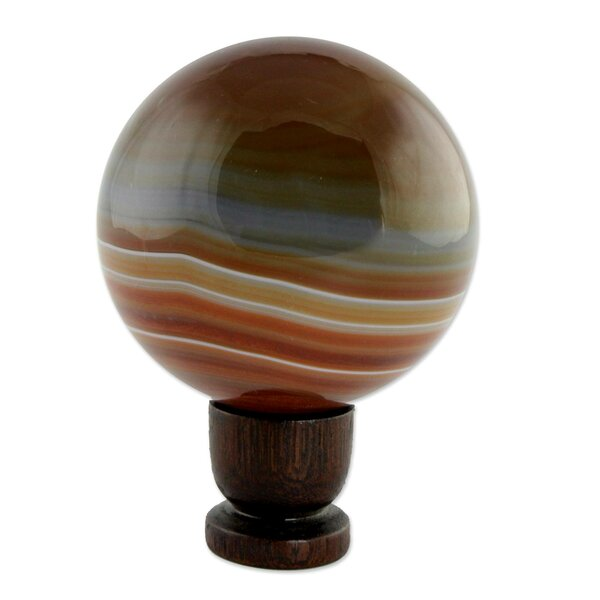Superhero Agate Ball Gazing Globe by Novica