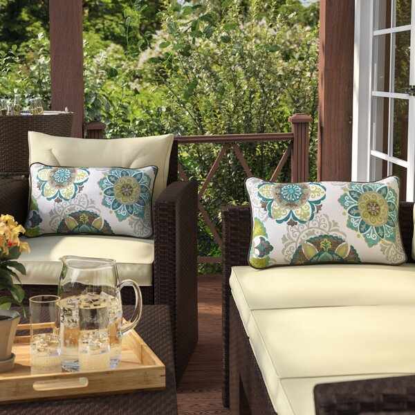 Saxon Outdoor Lumbar Pillow (Set of 2) by Zipcode Design