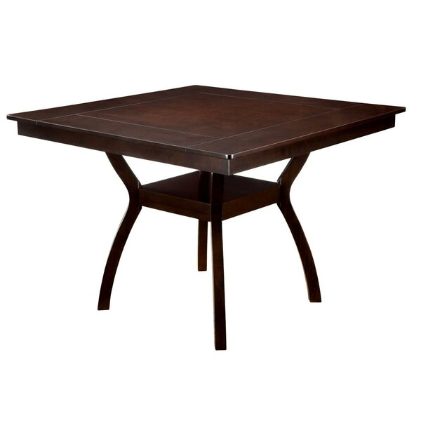 Williamsport Counter Height Solid Wood Dining Table by Charlton Home
