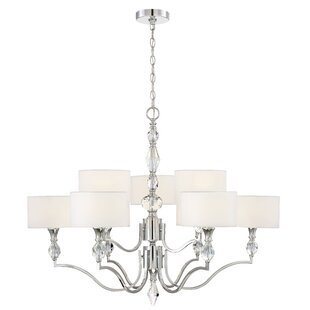 Read Reviews Evi 9-Light Shaded Chandelier By Designers Fountain