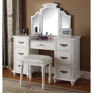 corner makeup vanity with mirror. Makeup Vanity Set With Mirror Corner Sets  Wayfair