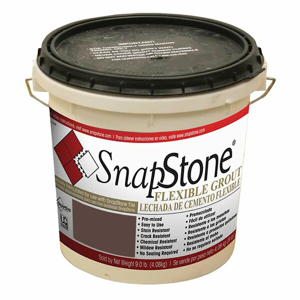 Urethane Flexible Grout 9 Lb Pail In Chestnut by SnapStone