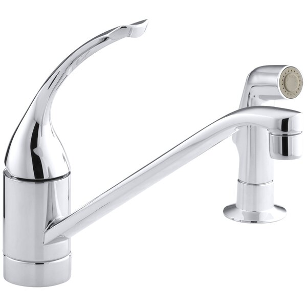 Coralais Two-Hole Kitchen Sink Faucet with 10 Spout, Matching Finish Side-Spray and Loop Handle by Kohler
