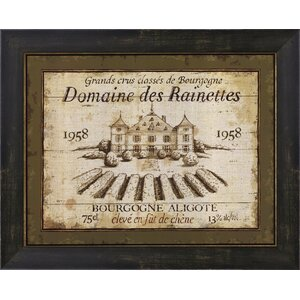 French Wine Labels III by Daphne Brissonnet Framed Vintage Advertisement by Evive Designs