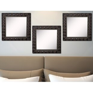 Affordable Derrik Feathered Accent Wall Mirror (Set of 3) ByAstoria Grand