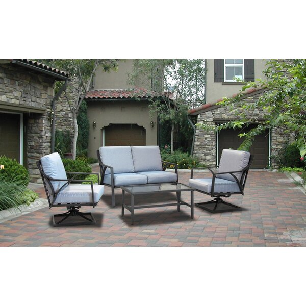 Edvin 4 Piece Sofa Seating Group with Cushions