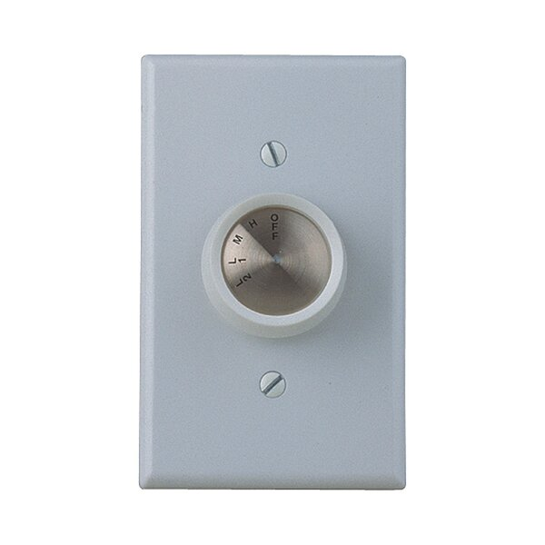 Four Speed Ceiling Fan Wall Control by Craftmade