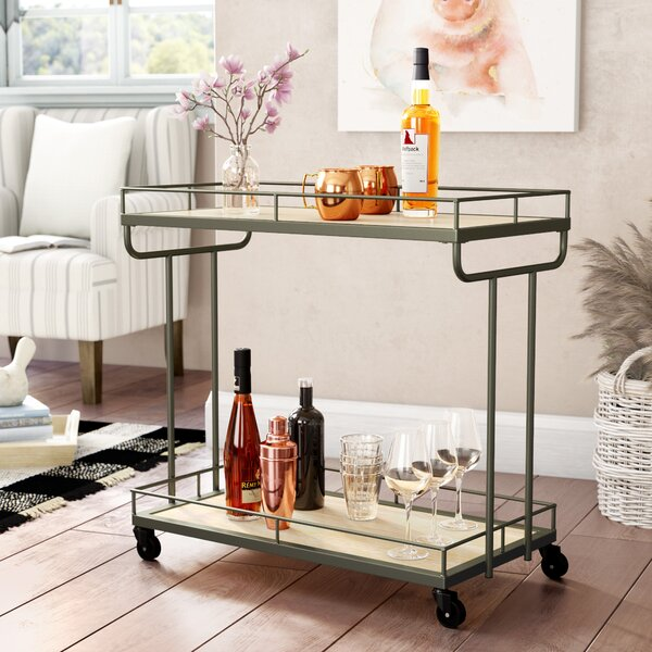 Baynham Bar Cart by Laurel Foundry Modern Farmhouse Laurel Foundry Modern Farmhouse