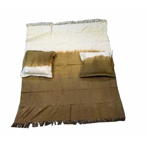 Larsen 3 Piece Faded Weave Cotton Throw Set (Set of 3) by Union Rustic