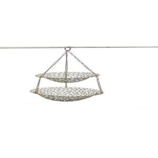 Purchase Two Tier Metal Hanging Basket By ESSENTIAL DÉCOR & BEYOND, INC