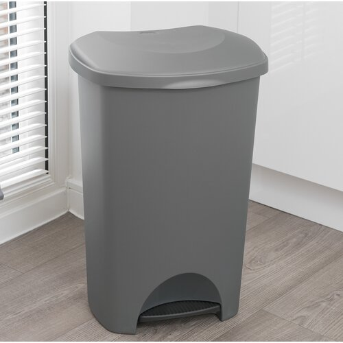Family Kitchen 50 Litre Step on Rubbish Bin Wayfair Basics