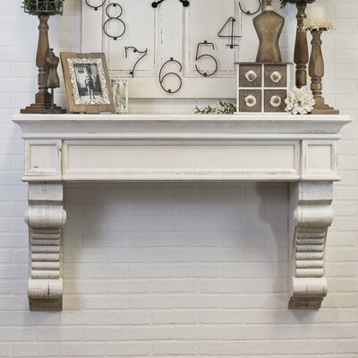 Simply Chic Wood Wall Shelf With Corbels