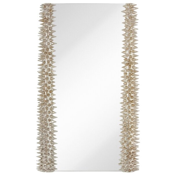 Edgy Rectangle Accent Mirror Detailed with Spikes by Majestic Mirror