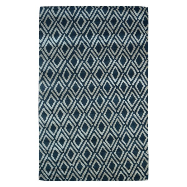Wool Hand-Tufted Black/Ivory Area Rug by Eastern Weavers