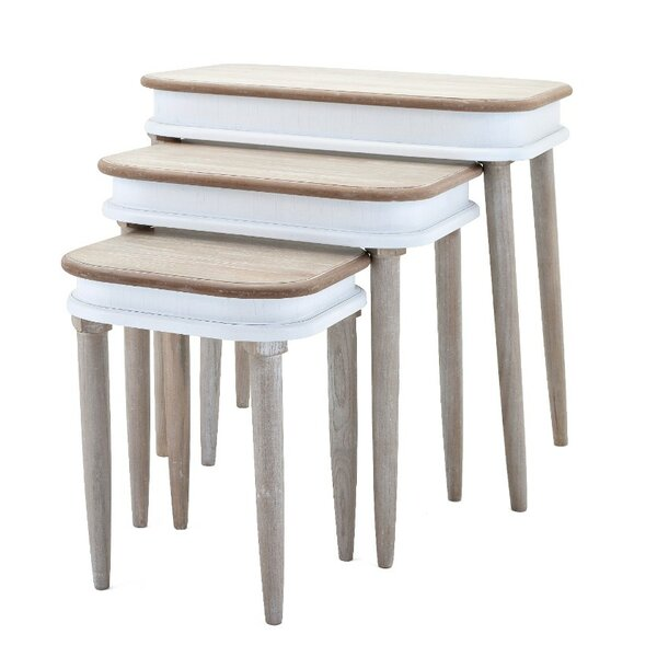 Lilliana Dual Toned 3 Piece Nesting Tables by Gracie Oaks