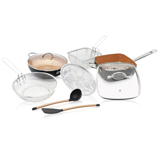 10 Piece Coated Kitchen Non-Stick Cookware Set by Volar Ideas