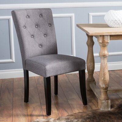 Keiper Upholstered Dining Chair Upholstery Color: Grey