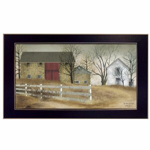 'The Old Stone Barn' Framed Graphic Art Print by Trendy Decor 4U