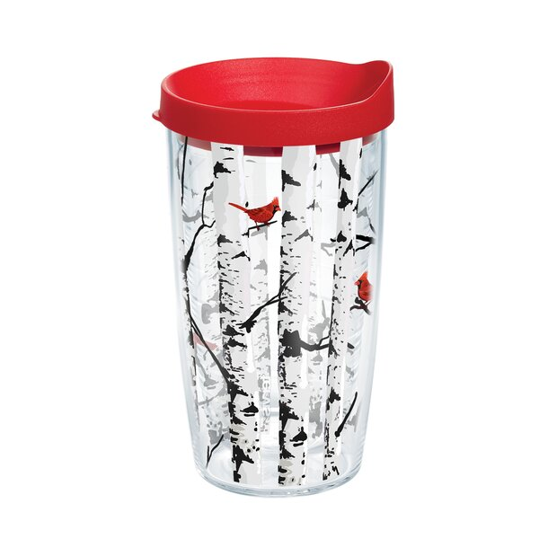 Aspen Trees With Cardinals Plastic Travel Tumbler by Tervis Tumbler