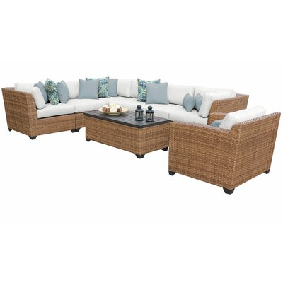 Sol 72 Outdoor Rattan Sectional Seating Group Cushions Cushion Color Seating Groups