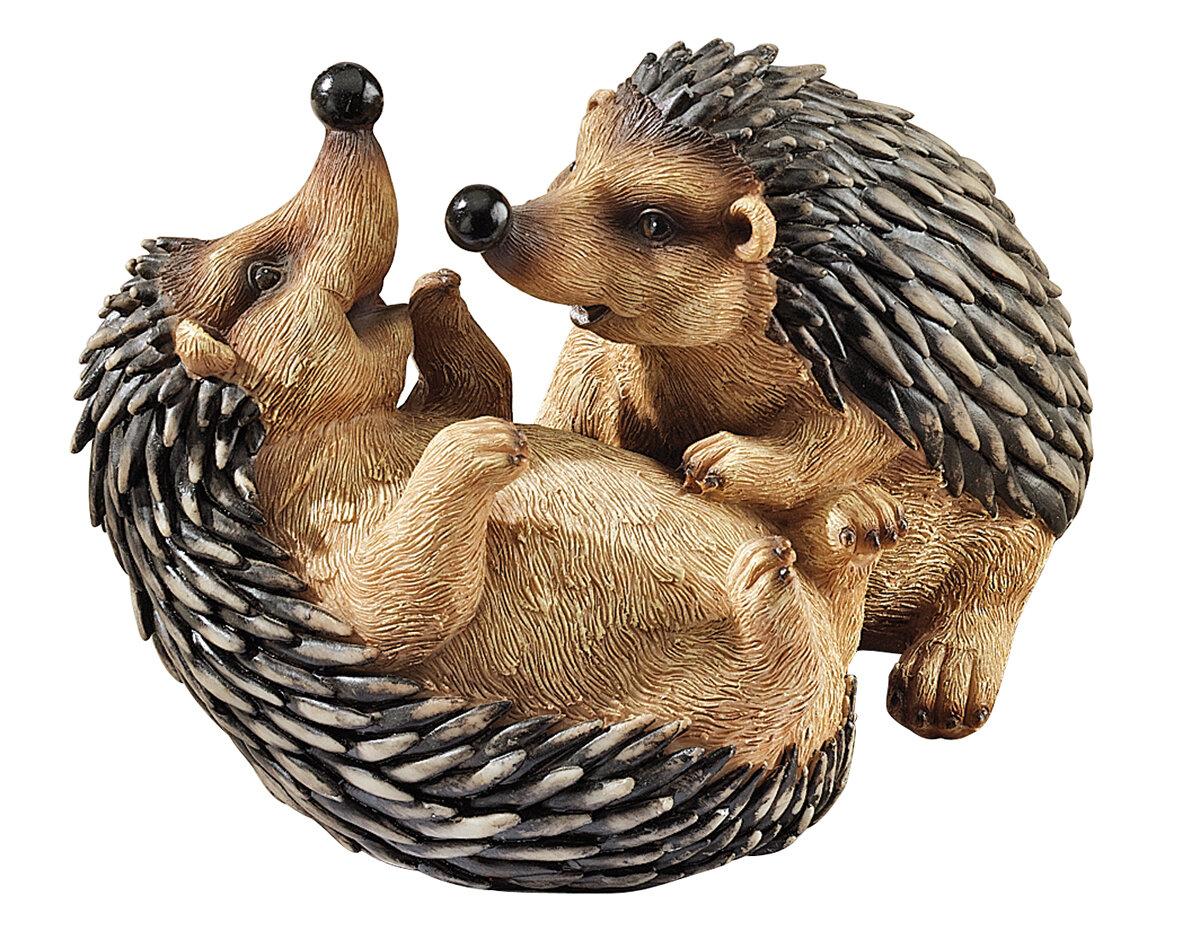Design Toscano Faye Hedgehogs Garden Statue & Reviews | Wayfair