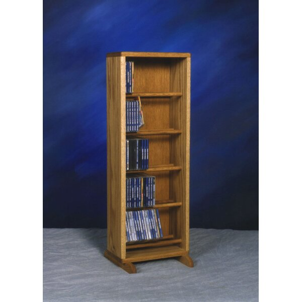 130 CD Dowel Multimedia Storage Rack By Rebrilliant