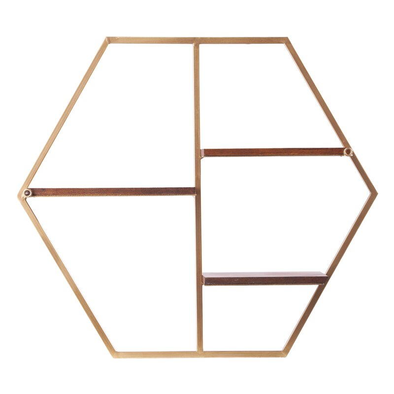 Gribble Hexagon Decorative Wall Shelf