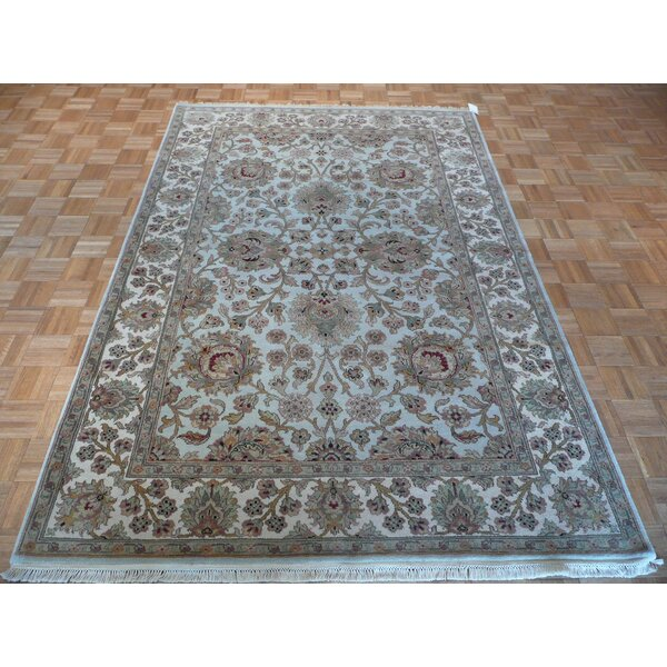 One-of-a-Kind Railey Hand-Knotted Wool Light Blue Area Rug by Astoria Grand