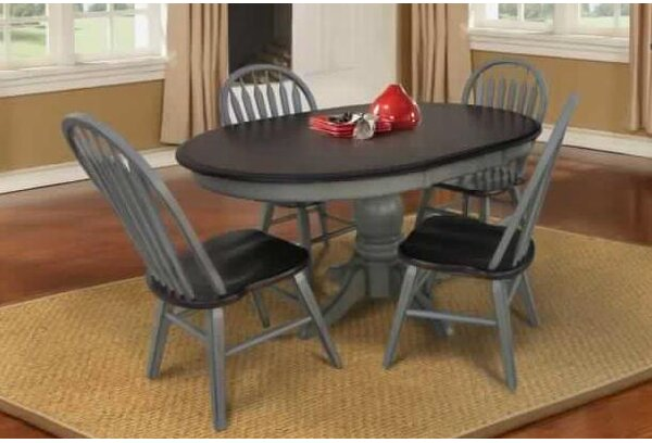 Adalberto Extendable Solid Wood Dining Table by August Grove