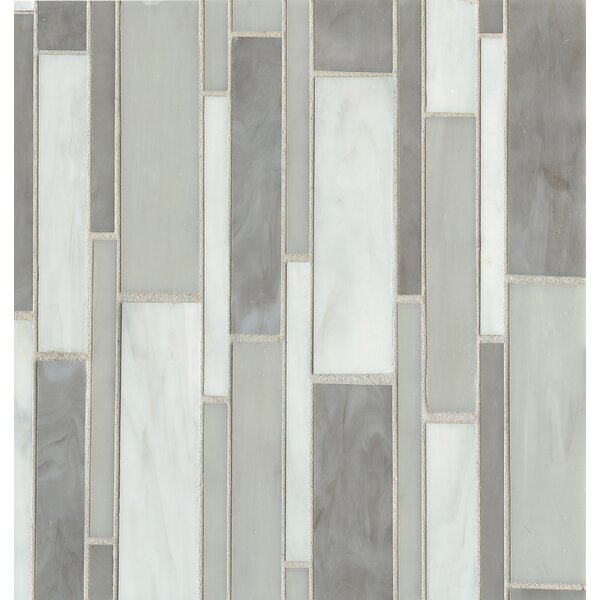 Kailua 11.4 x 11.6 Mosaic Linear Blend Tile in Mist by Grayson Martin