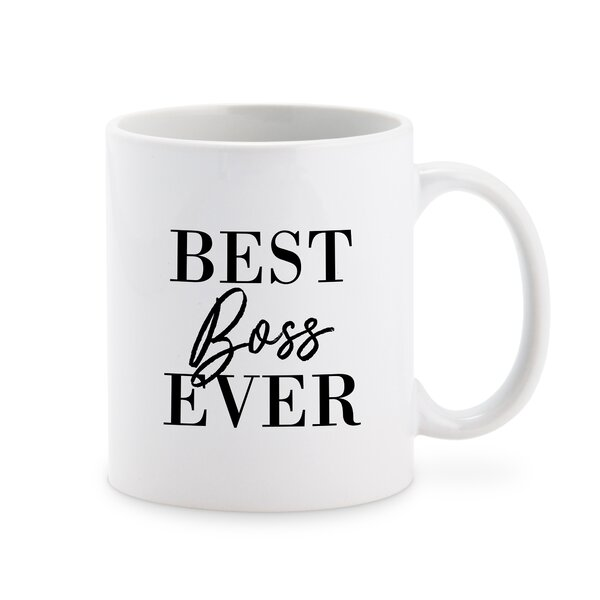 Elberton Best Boss Ever Personalized Coffee Mug by Winston Porter