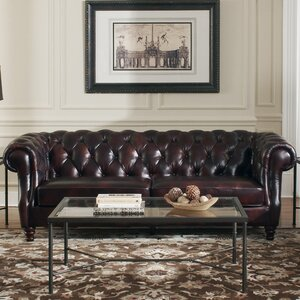 Tilsworth Leather Chesterfield Sofa by Astoria Grand