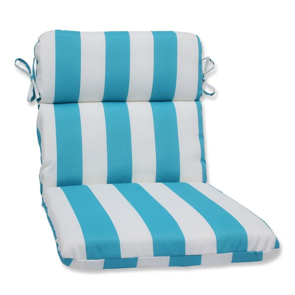 Cabana Stripe Indoor/Outdoor Lounge Chair Cushion by Pillow Perfect