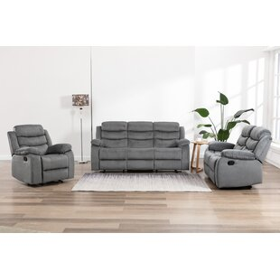 Esaw 3 Piece Reclining Living Room Set by Red Barrel Studio®