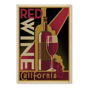 Wine Red Wine Vintage Advertisement by East Urban Home