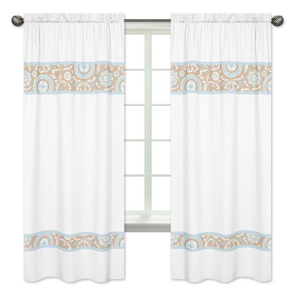 Hayden Damask Semi-Sheer Rod Pocket Curtain Panels (Set of 2) by Sweet Jojo Designs