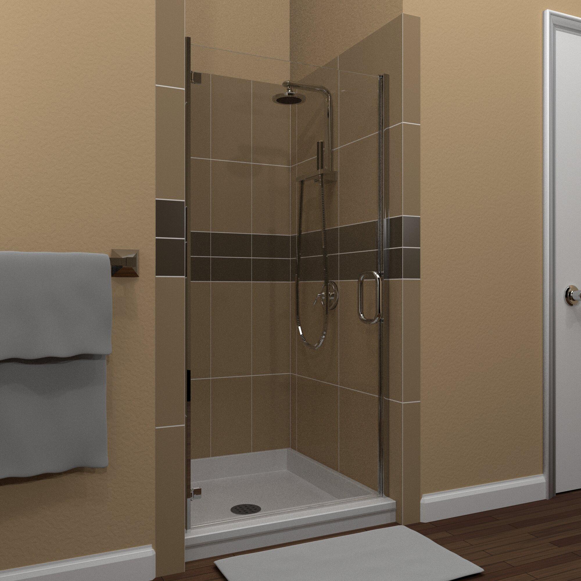 Mp Swinging 26 X 73 Hinged Semi Frameless Shower Door