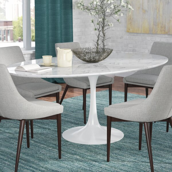 Julien Artificial Marble Oval Dining Table by Langley Street