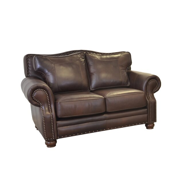 Westford Leather Loveseat by Westland and Birch