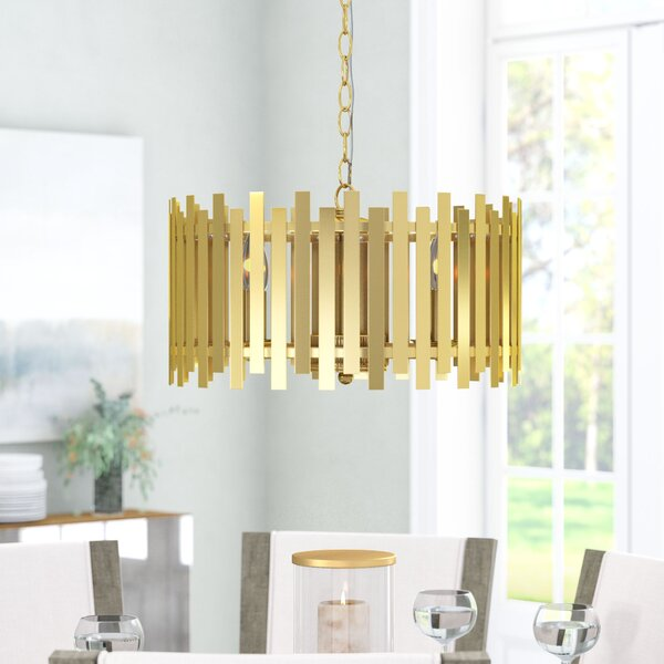 Brookline 4 - Light Candle Style Drum Chandelier by Ivy Bronx Ivy Bronx