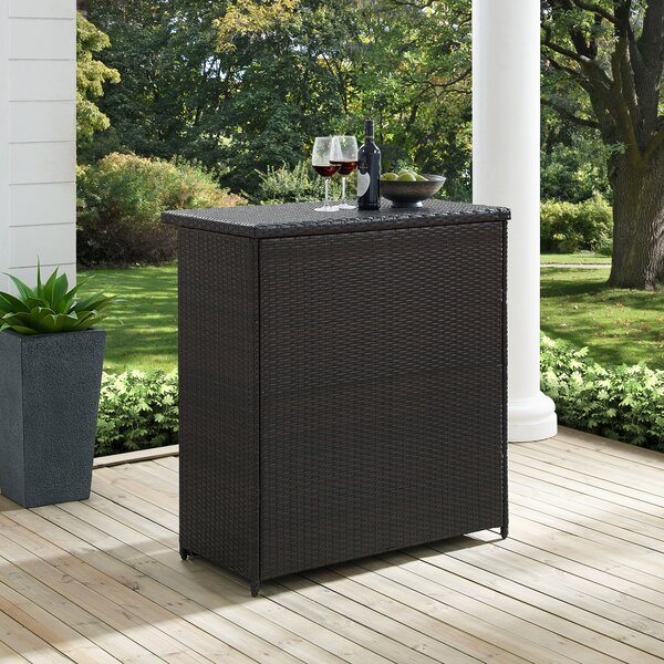 Crawfordsville Wicker Bar Table By Mistana by Mistana Purchase