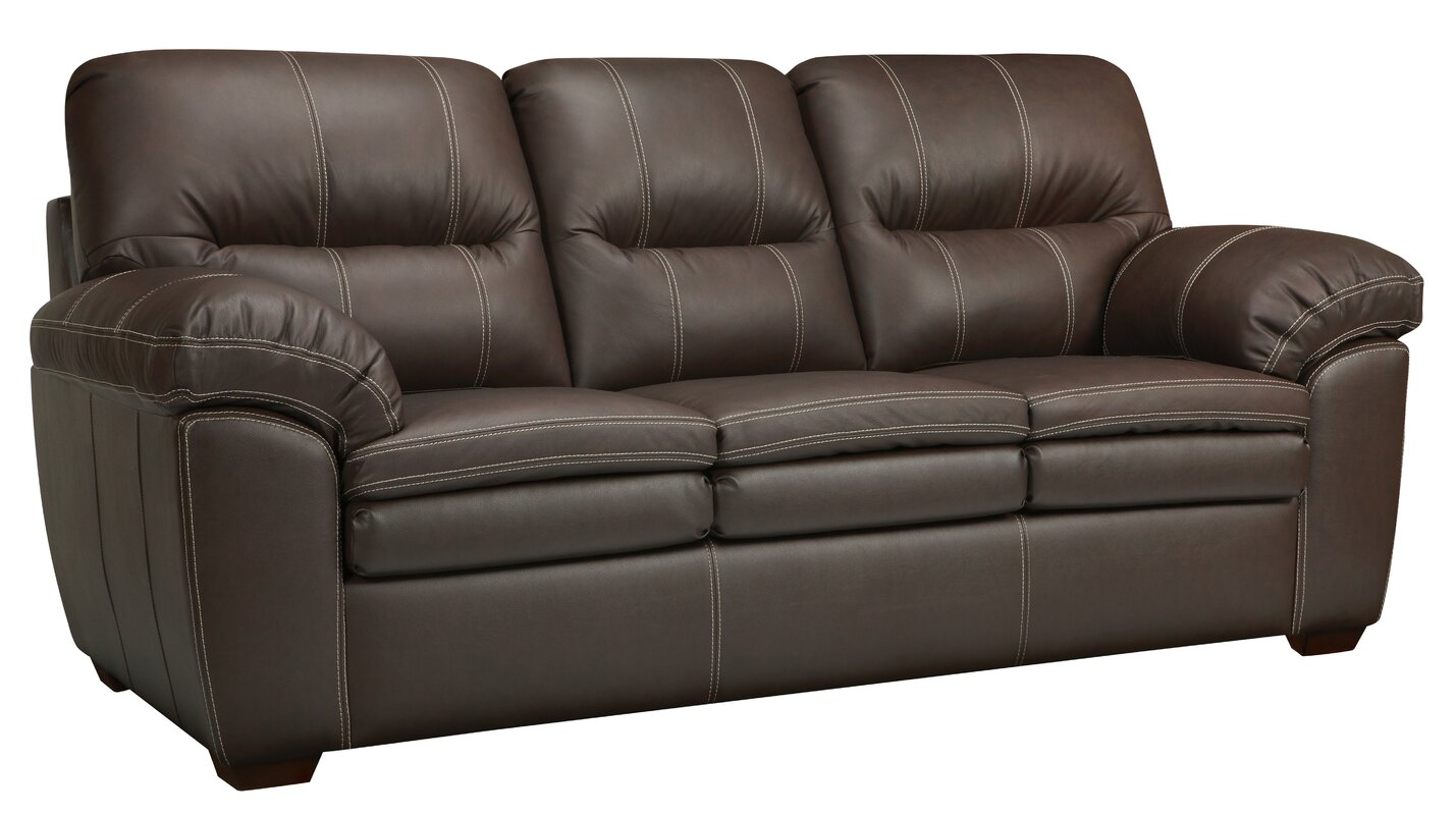 Get 58 Off Woodberry Leather Sofa By Latitude Run