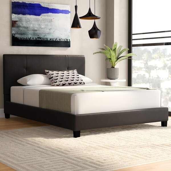 Miranda Upholstered Platform Bed by Wade Logan