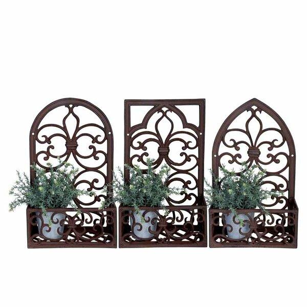 Window Frame Cast Iron 3 Piece Plant Stand Set by EsschertDesign