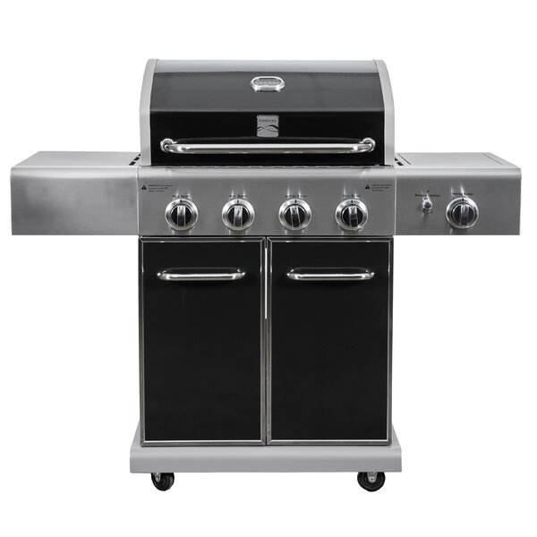 4 Burner Propane Gas Grill with Side Burner by Kenmore