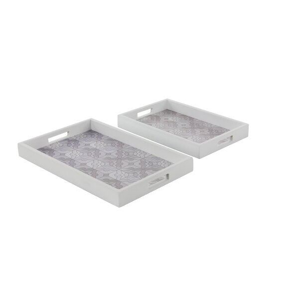 Wood 2 Piece Accent Tray Set by Cole & Grey