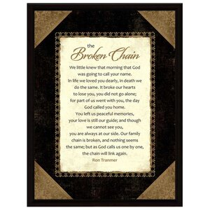 Simple Expressions Broken Chain Framed Textual Art by Dexsa