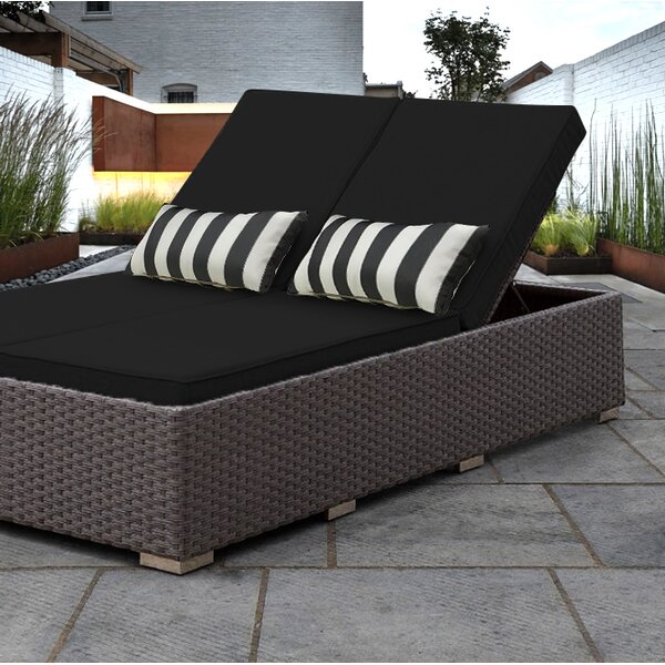 Benitto Double Chaise Lounge with Cushion by Solis Patio