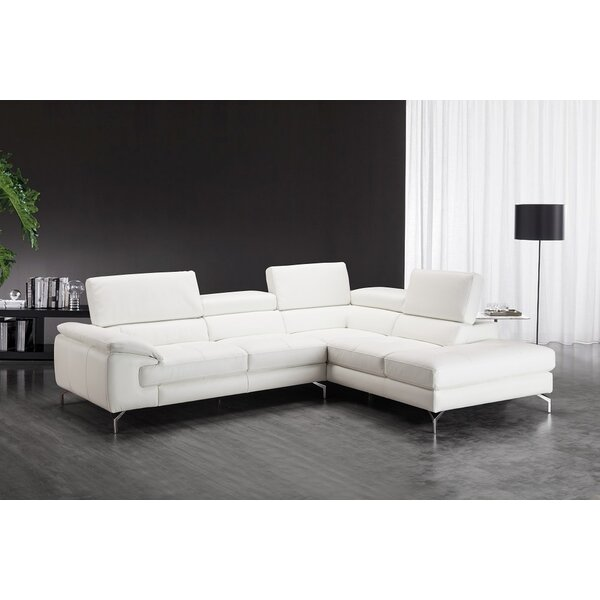 Atalaya Leather Sectional by Orren Ellis