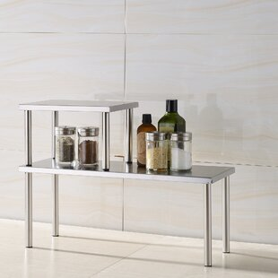 Coupon Erin 2 Piece Stainless Steel Square Accent Storage Shelf Set by Zipcode Design
